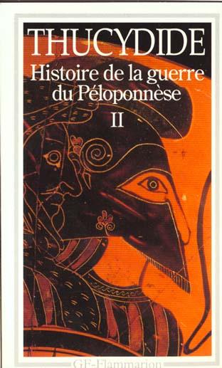 LITTERATURE ET CIVILISATION - T02 - HISTOIRE DE LA GUERRE DU PELOPONNESE
