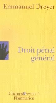 DROIT PENAL GENERAL