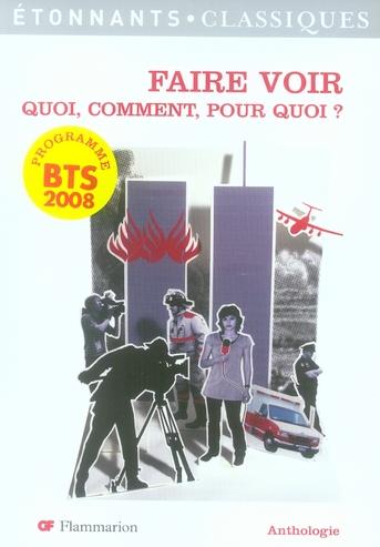 FAIRE VOIR, QUOI, COMMENT, POUR QUOI ? - PROGRAMME BTS 2008