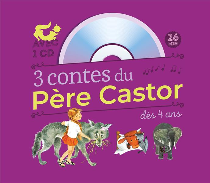 3 CONTES DU PERE CASTOR : MARLAGUETTE - LA VACHE ORANGE - UNE HISTOIRE DE SINGE