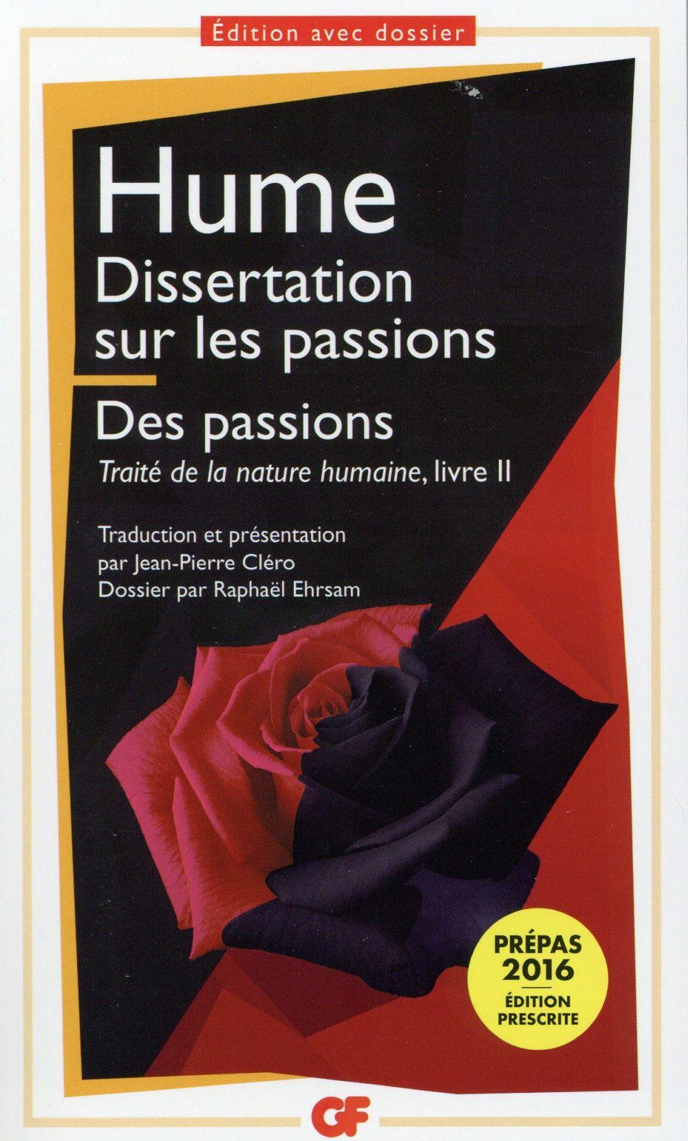 Traite de la nature humaine - t02 - dissertation sur les passions - les passions