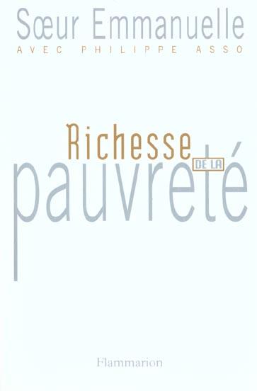 RICHESSE DE LA PAUVRETE