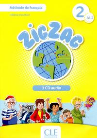 ZIG ZAG NIVEAU 2 3 CD AUDIO COLLECTIF METHODE DE FRANCAIS