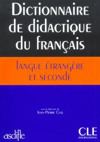 DICTIONNAIRE DIDACTIQUE LANGUE ETRANGERE ET SECONDE