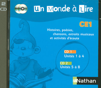 UN MONDE A LIRE CE1 - SERIE BLEUE - PACK 2 CD AUDIO