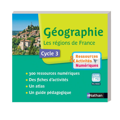 GEO - REGIONS DE FRANCE - CLE USB CYCLE 3 RESSOURCES ET ACTIVITES