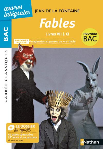 FABLES LIVRES VII A XI - JEAN DE LA FONTAINE