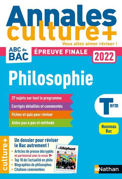 Annales bac 2022 philosophie - culture +