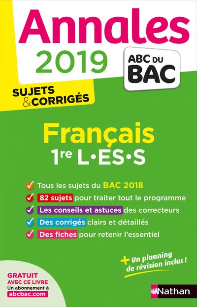 ANNALES BAC 2019 FRANCAIS 1ERE L-ES-S CORRIGE