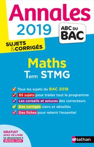 ANNALES BAC 2019 MATHS STMG - CORRIGE