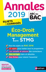 ANNALES BAC 2019 - ECO DROIT TERMINALE STMG CORRIGE