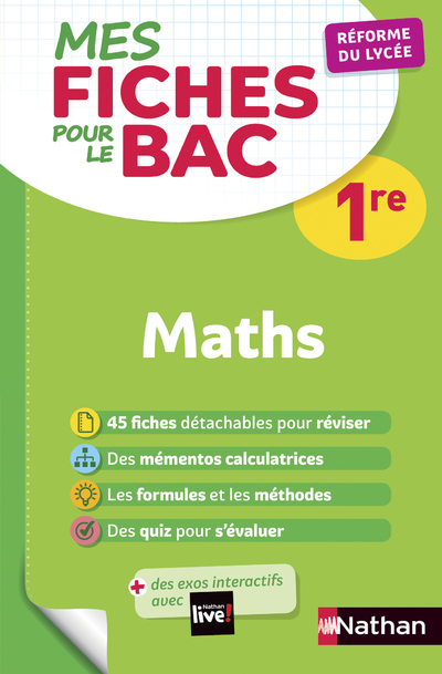 NAFA000025 MES FICHES ABC POUR LE  BAC MATHS 1RE
