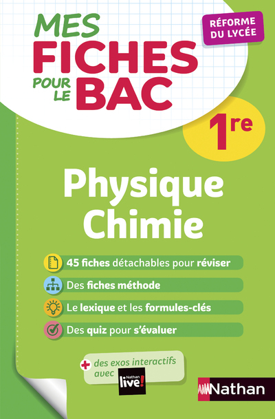 NAFA000026 MES FICHES ABC POUR LE BAC PHYSIQUE CHIMIE 1RE