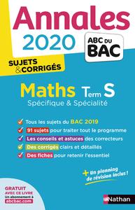 ANNALES BAC 2020 MATHS TERM S - SPECIFIQUE & SPECIALITE - CORRIGE