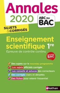 ANNALES BAC 2020 ENSEIGNEMENT SCIENTIFIQUE 1RE - EPREUVE DE CONTROLE CONTINU