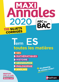 MAXI ANNALES BAC 2020 - TERMINALE ES - VOLUME 24