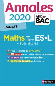 ANNALES BAC 2020 MATHS TERM ES-L - NC