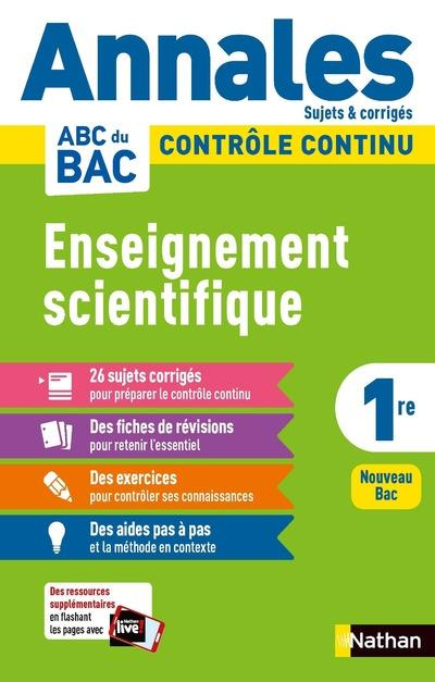 Annales abc du bac 2021 - enseignement scientifique 1re - corrige - vol11