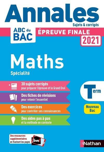 Annales bac 2021 maths term - corrige