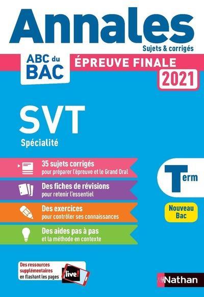 Annales bac 2021 svt term - corrige