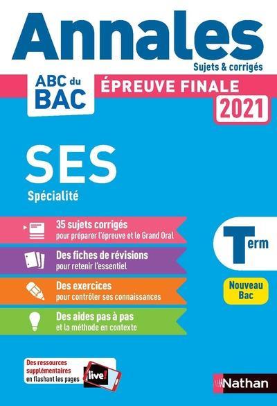 Annales bac 2021 sciences economiques et sociales term - corrige