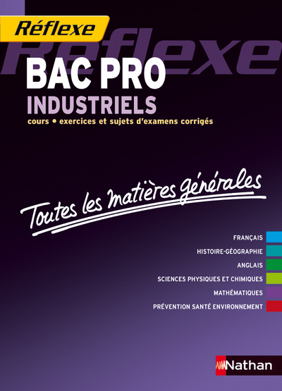 MATIERES GENERALES BAC PRO IND