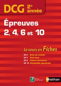 DCG 2EME ANNEE EPREUVES 2-4-6-10 (LE COURS EN FICHES) - 2015
