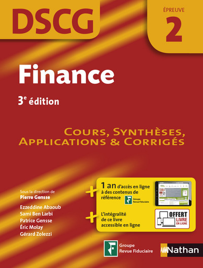 FINANCE EPREUVE 2 DSCG - MANUEL APPLICATIONS ET CORRIGES - 2016 - 2012