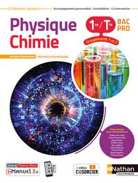 PHYSIQUE-CHIMIE 1RE/TERM BAC PRO - GROUPEMENTS 1/2 (MANUEL) - (SPIRALES) LIVRE + LICENCE ELEVE