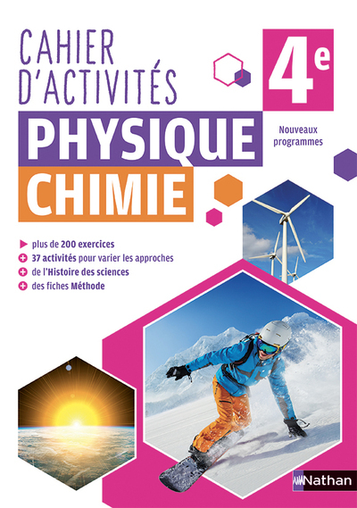 PHYSIQUE CHIMIE 4E - CAHIER - 2018