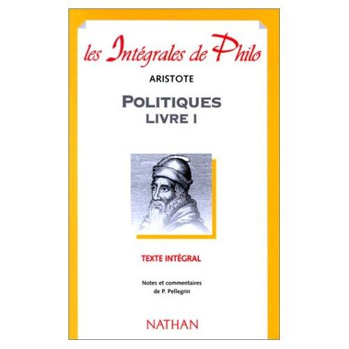 INT PHIL 01 POLITIQUES LIVRE I