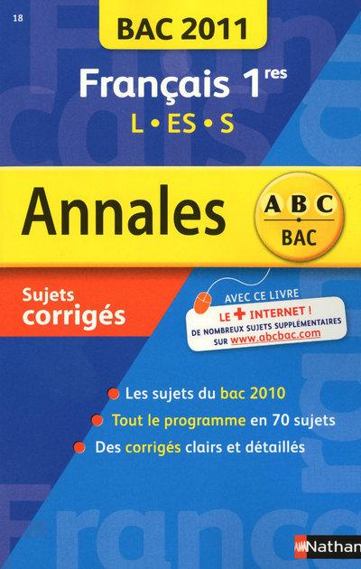 ANNALES BAC 2011 FRANCAIS 1RES