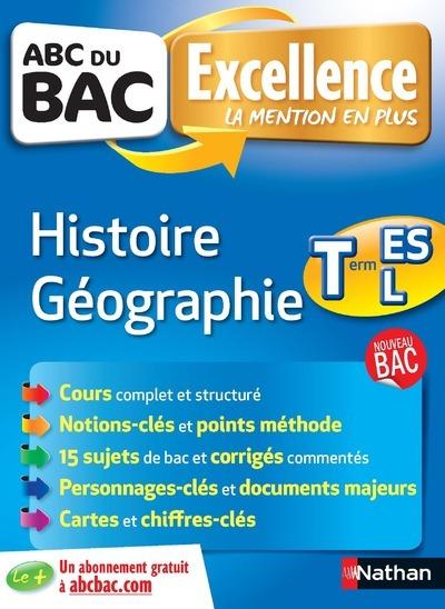 ABC DU BAC EXCELLENCE HISTOIRE GEOGRAPHIE TERM ES-L