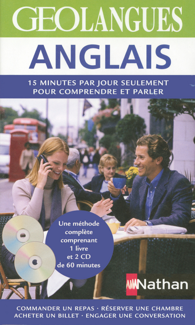 ANGLAIS PACK GEOLANGUES LIVRE + CD AUDIO