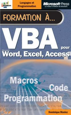 FORMATION A VBA - POUR WORD, EXCEL, ACCESS