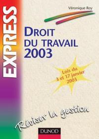 DROIT DU TRAVAIL 2003 - 7EME EDITION