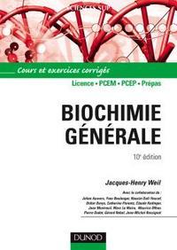 BIOCHIMIE GENERALE - 10EME EDITION - COURS ET EXERCICES CORRIGES