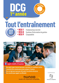 ANNEE 1 : DCG 1-8-9 - TOUT L'ENTRAINEMENT 2020-2021 - REFORME EXPERTISE COMPTABLE