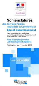 INSTRUCTION M49-NOMENCLATURES DES SERVICES PUBLICS INDUSTRIELS ET COMMERCIAUX