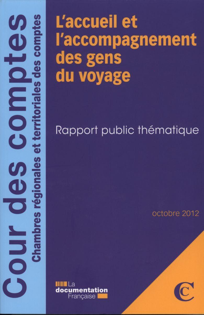 L'ACCUEIL ET L'ACCOMPAGNEMENT DES GENS DU VOYAGE 09/2012.