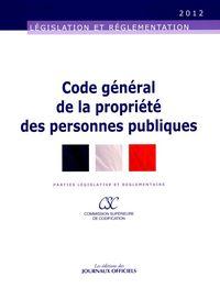 CODE GENERAL DE LA PROPRIETE DES PERSONNES PUBLIQUES N 20061 2012