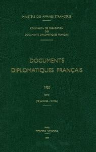 DOCUMENTS DIPLOMATIQUES FRANCAIS - 1962 - TOME I (1ER JANVIER - 30 JUIN)