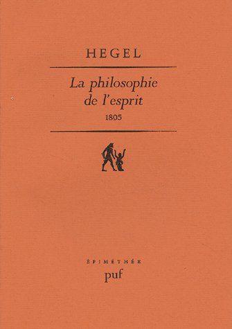 PHILOSOPHIE DE L'ESPRIT 1805 (LA)