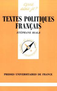TEXTES POLITIQUES FRANCAIS