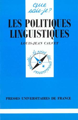 LES POLITIQUES LINGUISTIQUES QSJ 3075