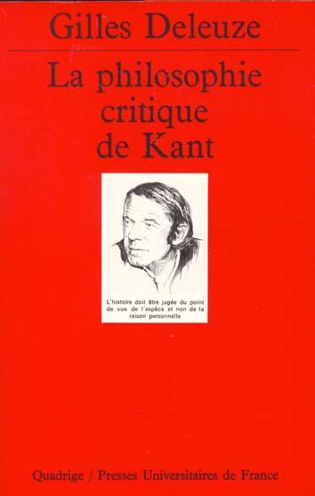 PHILOSOPHIE CRITIQUE DE KANT N.236