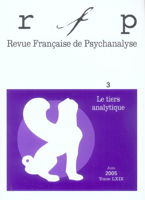 RFP 2005, T. 69, N  3 - LE TIERS ANALYTIQUE