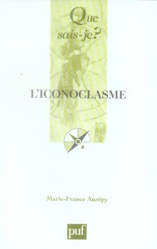 L'ICONOCLASME QSJ 3769
