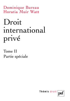 DROIT INTERNATIONAL PRIVE TOME 2 PARTIE SPECIALE