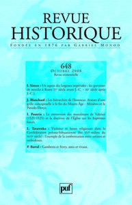 REVUE HISTORIQUE 2008, N  648
